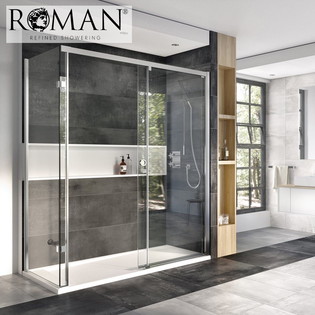 Roman Decem X 1200 X 900mm Sliding Door With Finger Pull