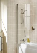 Lakes Square Single Panel Bath Screen