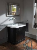 Silverdale Empire 920mm Inset Basin with Black Cabinet