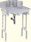 Burlington Georgian Margavine Marble Countertop and Basin with Wash Stand