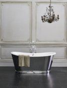 Burlington Bathrooms Balthazar Black Soaking Tub