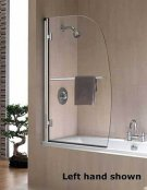 Twyford Hydr8 Sail Bath Screen