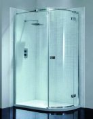 April Prestige 2 Frameless Single Door Offset Shower Quadrant