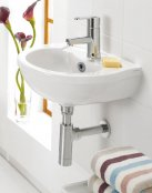 Silverdale Thames 450mm Cloakroom Basin with Chrome Bottle Trap
