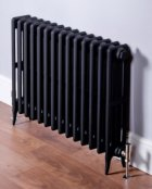 DQ Heating Cast Iron Hawkshaw 660 x 1110mm 4 Column Black Primer Radiator
