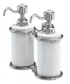 Burlington Bathrooms Chrome Double Liquid Soap Dispenser
