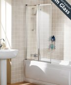 Lakes Framed Double Panel Bath Screen