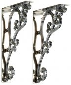 Burlington Bathrooms Chrome Ornate Brackets