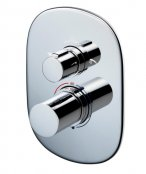 Sottini Basento Oval Thermostatic Built In Shower Mixer with Diverter