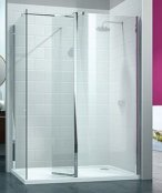 Merlyn 8 Series Walk-In with Swivel Panel and End Panel