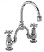 Burlington Claremont Bridge Basin Mixer with Curved Spout