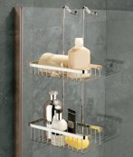 Coram Hanging Double Shower Basket