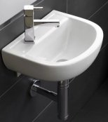 RAK Compact 38cm 1 Tap Hole Special Needs Basin With No Overflow