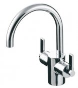 Ideal Standard Silver Dual Control Basin Mixer with Pop-Up Waste