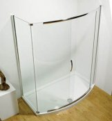 Kudos Infinite 1500mm Bow Fronted Slider Shower Enclosure
