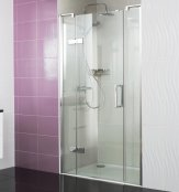 Roman Decem x 1200mm Hinged Door with Two Inline Panels