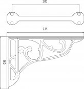 Bayswater Chrome Ornate Cistern Brackets