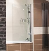 Roman Lumin8 Frameless Hinged Bath Screen