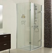 Roman Decem x 1500 x 800mm Hinged Door with One Inline Panel