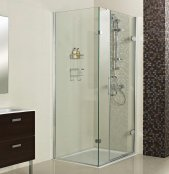 Roman Decem x 1500 x 900mm Hinged Door with One Inline Panel