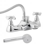 Roca Danube Cross Deck-Mounted Bath/Shower Mixer