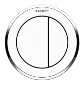 Geberit Type 10 Gloss Chrome/White Dual Flush Button For 8cm Concealed Cistern