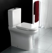 RAK Compact 45cm Rimless Close Coupled Back To Wall WC