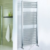 Essential Straight Chrome 1100 x 600mm Towel Warmer