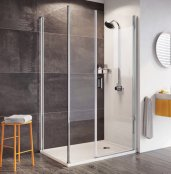 Roman Innov8 1000mm Pivot Door with In-Line Panel and Side Panel