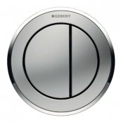 Geberit Type 10 Matt Chrome/Gloss Chrome Dual Flush Button For 8cm Concealed Cistern