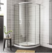 Spring 900 x 760mm Double Door Offset Quadrant Shower Enclosure