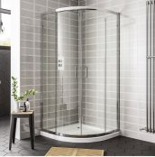 Spring 1200 x 800mm Double Door Offset Quadrant Shower Enclosure