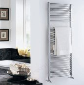 Essential Curved Chrome 690 x 500mm Towel Warmer