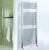 Essential Straight Chrome 690 x 450mm Towel Warmer