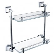 Heritage Chancery Double Glass Shelf
