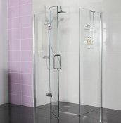 Roman Decem x 1000 x 760mm Hinged Door with Hinged Inline Panel