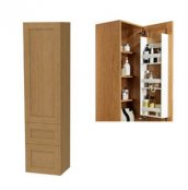 Miller London Tall Cabinet with Door Storage and 2 Drawers