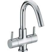 Bristan Prism 2 Handled Basin Mixer (Without Waste)