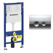 Geberit 1120mm Wall Hung Cistern Frame & Delta 21 Flush Plate