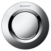 Geberit Pneumatic Gloss Chrome Type 01 Single Flush, For 12 And 15cm Concealed Cistern