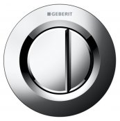 Geberit Type 01 Gloss Chrome Dual Flush Button For 12 and 15cm Concealed Cistern
