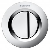 Geberit Type 01 Matt Chrome Dual Flush Button For 12 and 15cm Concealed Cistern