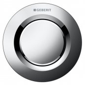 Geberit Type 01 Gloss Chrome Single Flush Button For 8cm Concealed Cisterns