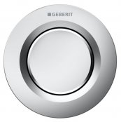 Geberit Type 01 Matt Chrome Single Flush Button For 8cm Concealed Cisterns