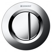 Geberit Type 01 Gloss Chrome Dual Flush Button For 8cm Concealed Cistern