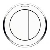 Geberit Type 10 Gloss Chrome/White Dual Flush Button For 12 and 15cm Concealed Cistern