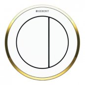 Geberit Type 10 Gold/White Dual Flush Button For 8cm Concealed Cistern