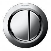 Geberit Type 1 Gloss Chrome Dual Flush, For Furniture