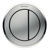 Geberit Type 10 Gloss Chrome/Matt Chrome Dual Flush, For Furniture