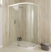 Sommer 6 Single Door Offset Quadrant Shower Enclosure 1000 x 800mm